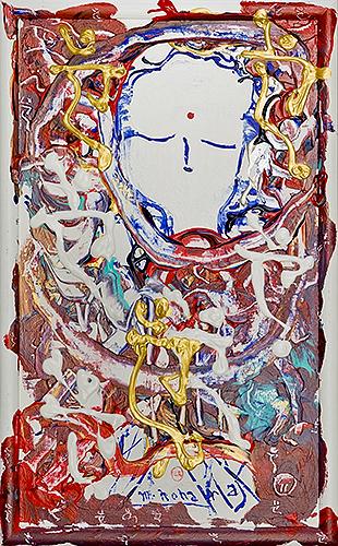 女神様88 Goddess 88, 2011 48.2 x 30.1 cm Acrylic on canvas