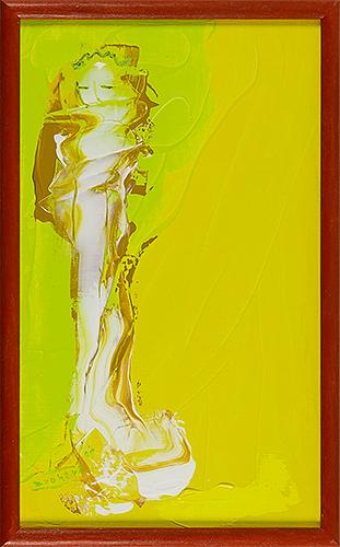 女神様0 Goddess 0, 2009 48.2 x 30.1 cm Acrylic on canvas -SOLD-