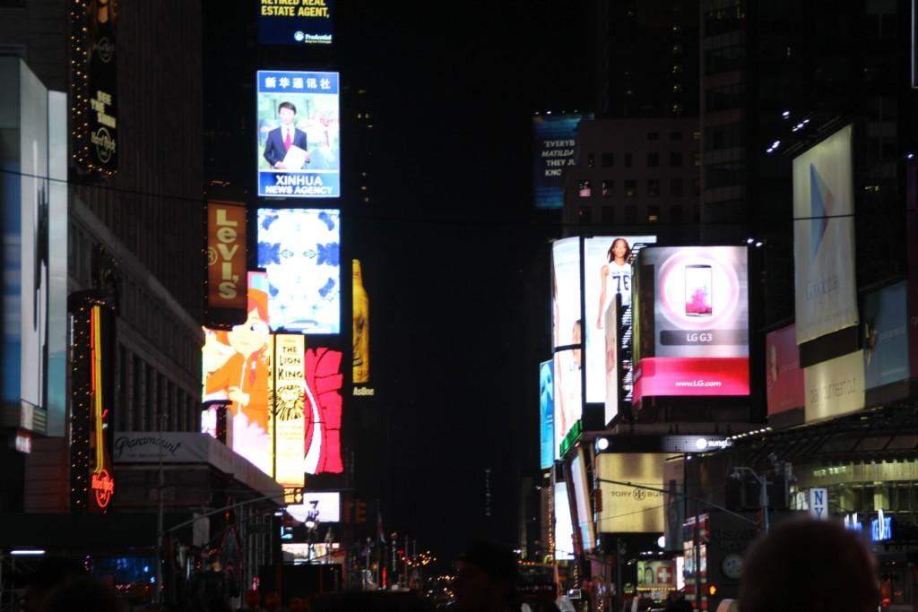 les lumières de Times Square