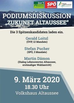 """Podiumsdiskussion """"Zukunft Altaussee"""""""