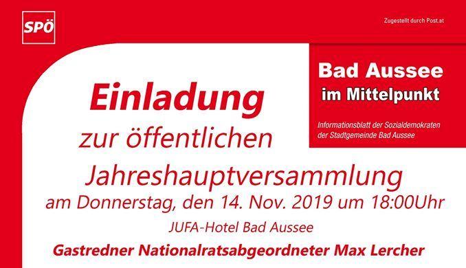 Ortsparteitag 2019 der SPÖ Bad Aussee