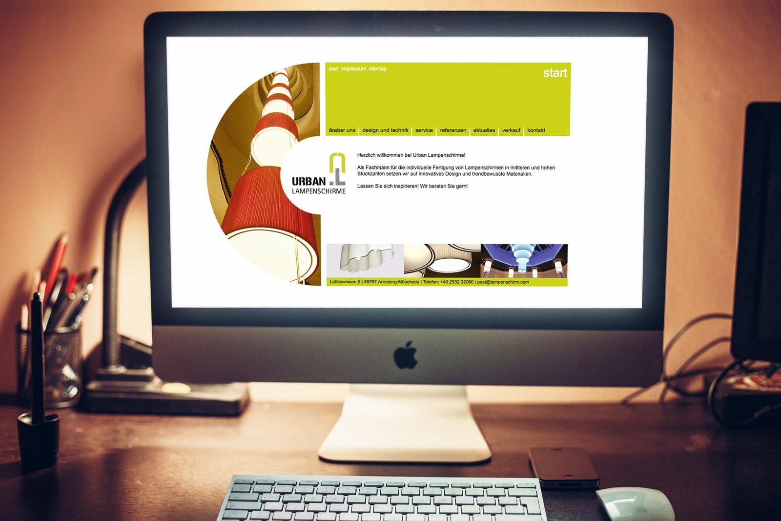 Urban Lampenschirme – Webseite für eine Manufaktur, Pflege im CMS Contenido