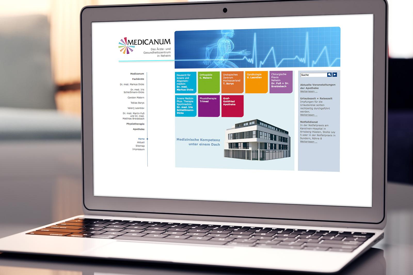 Medicanum Ärztehaus – Neue Webseite und Pflege im CMS Contao
