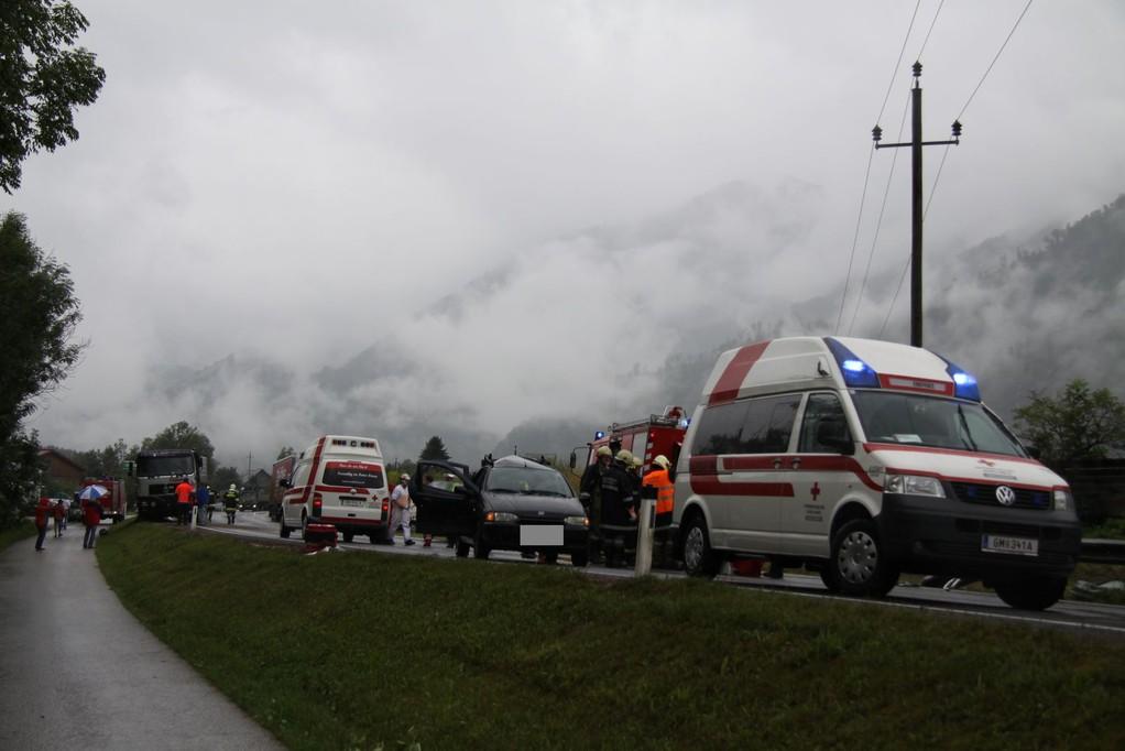 Verkehrsunfall B145 30.07.2010 (Foto: Kurt Schmidsberger)