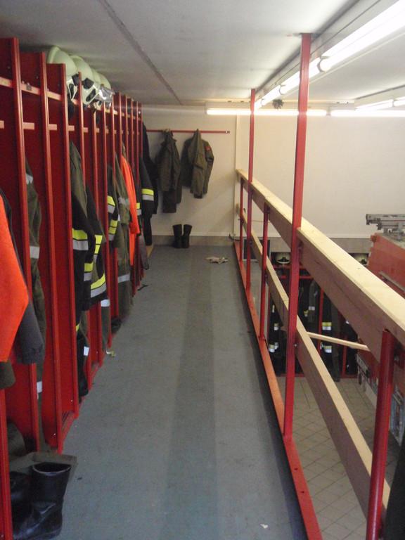 2. Etage in der Fahrzeughalle