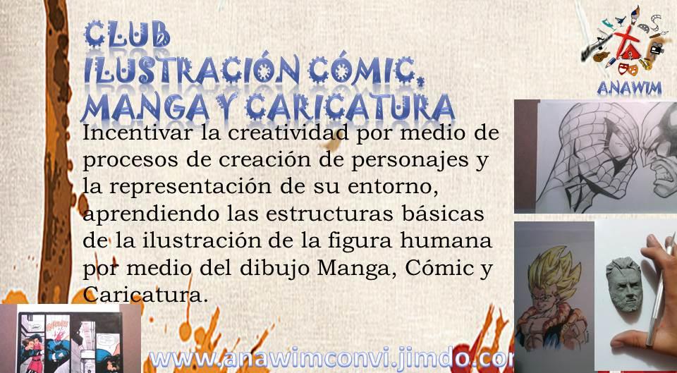 taller manga y caricatura para colegios