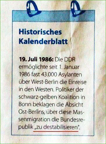 Als es die DDR noch gab, war eben alles anders ...