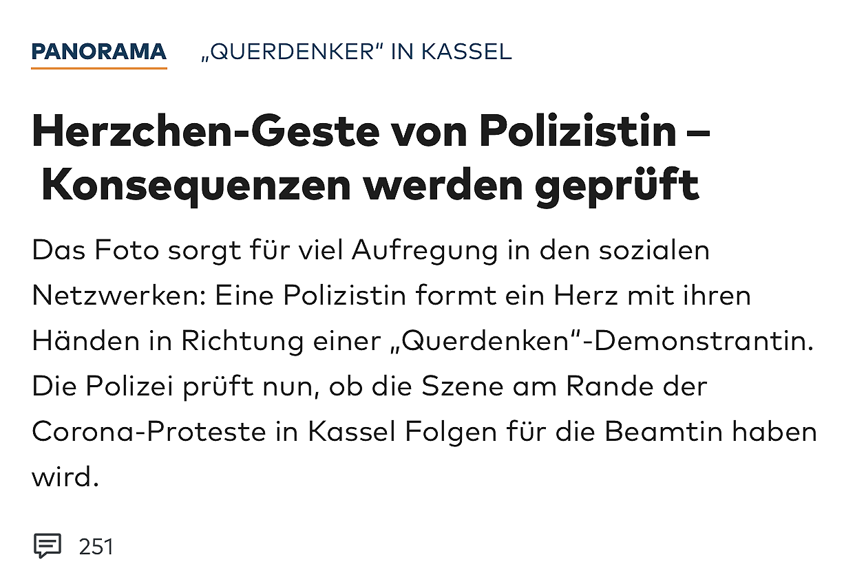 Polizistin mit Herz(-chen)