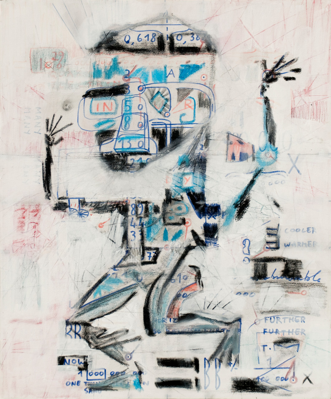Francois Maxime, Further Further, 2009, Acrylic and mixed media, Canvas, 60x50cm