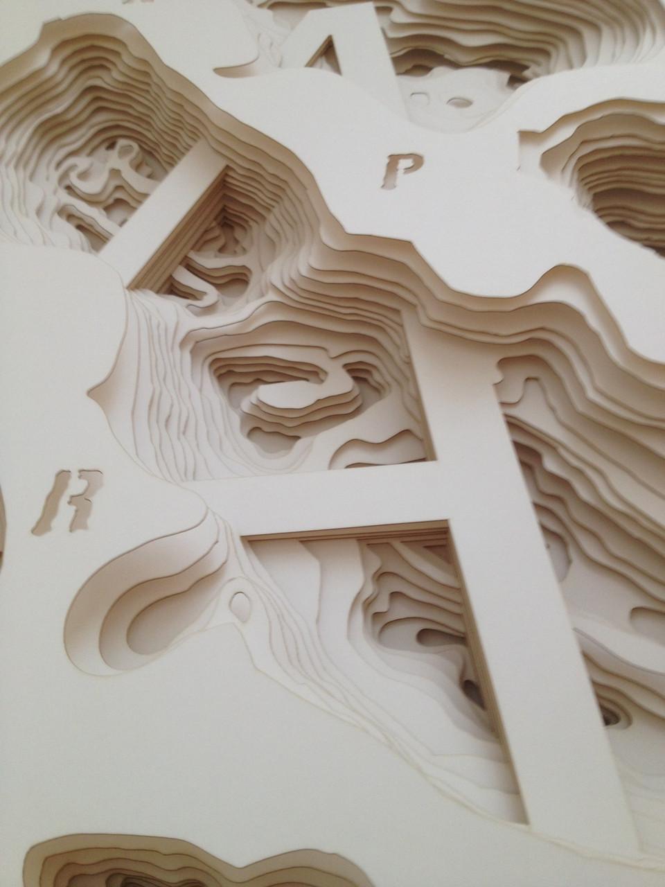 """Ferenc Farkas, Explore Paper """"A"""", 2014, Paper, 70x100cm"""