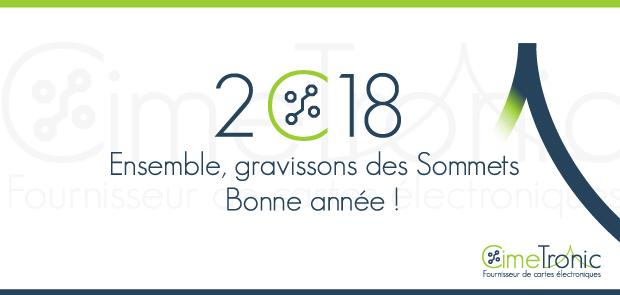 Carte de voeux 2018 textes personnalisés CimeTronic