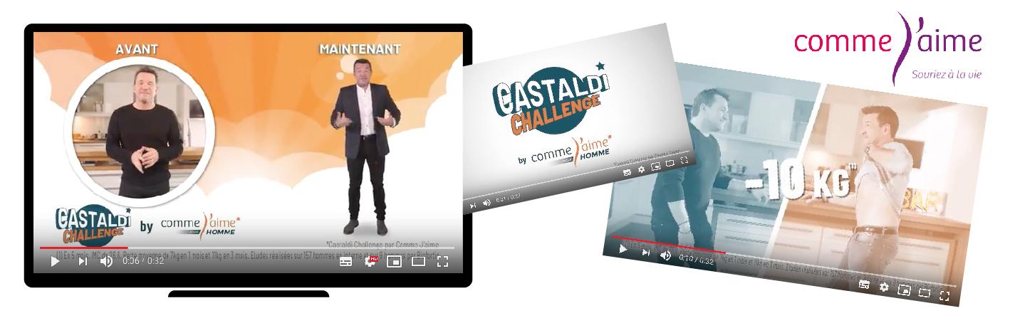 """Spot TV """"Castaldi Challenge"""" Comme J'aime"""