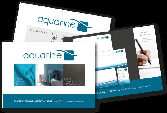 Réflexion et création de la nouvelle charte graphique Aquarine