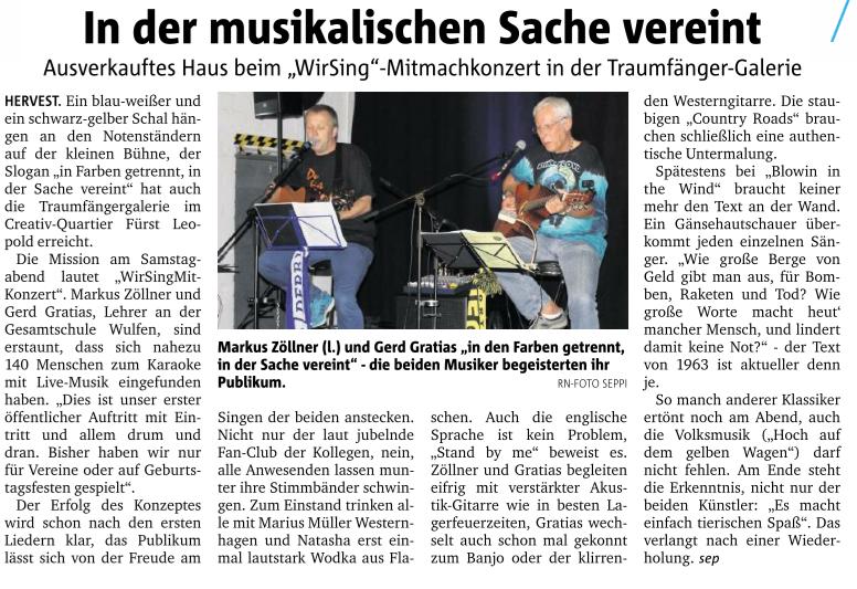 Dorstener Zeitung, 21.09.2015
