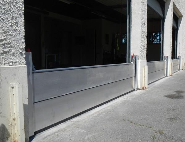Batardeaux aluminium anti inondations prevention inondation