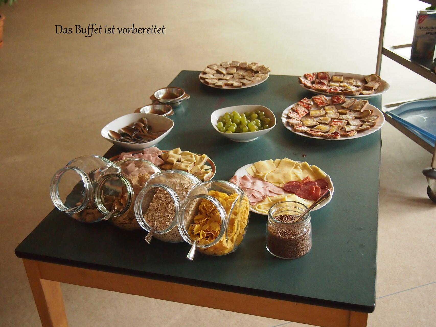 Das Buffet ist angerichtet