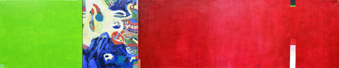 """""""Summer-Lounge"""", 50 x 250 cm, Öl auf Leinen, 2013"""