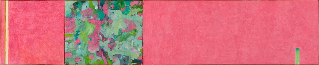 """""""Pink-Lounge"""", 50 x 245 cm, Öl auf Leinen, 2003"""