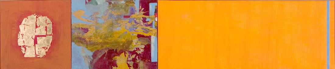 """""""Goldnugget-Lounge"""", 50 x 235 cm, Eitempera auf Leinen, 2004"""
