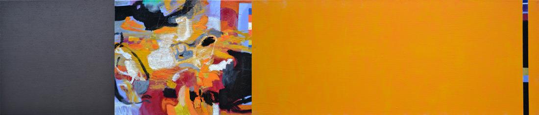 """Guantanamo-Lounge"", 50 x 235 cm, Mischtechnik auf Leinen, 2014"