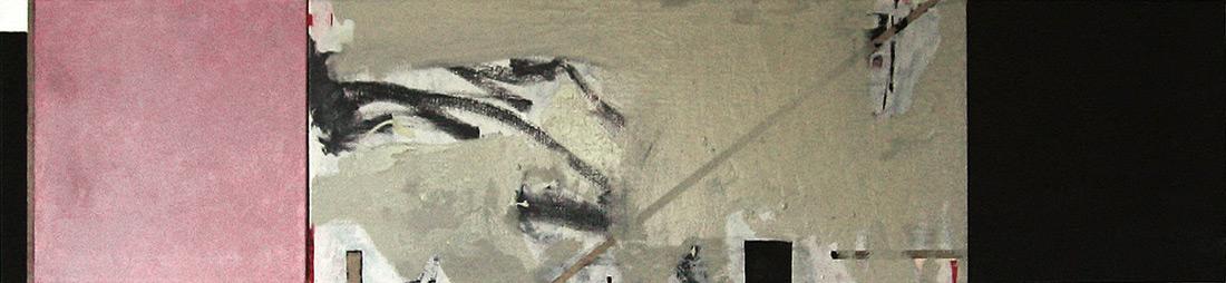 """""""Malewich-Lounge"""", 50 x 235 cm, Öl auf Leinen, 2005"""