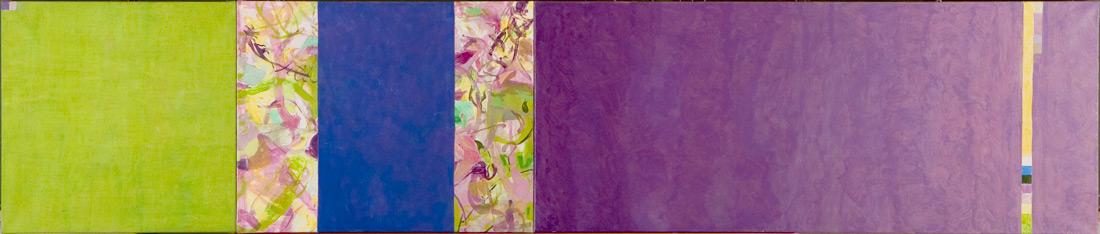 """""""Purple-Lounge"""", 70 x 340 cm, Öl und Eitempera auf Leinen, 2004/2005"""