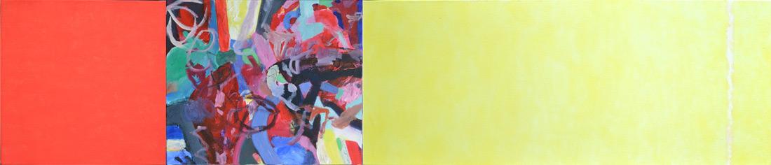 """""""Murano-Lounge"""", 50 x 235 cm, Mischtechnik, 2013"""