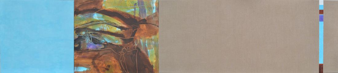 """Wald-Lounge"", 70 x 330 cm, Mischtechnik, 2013"