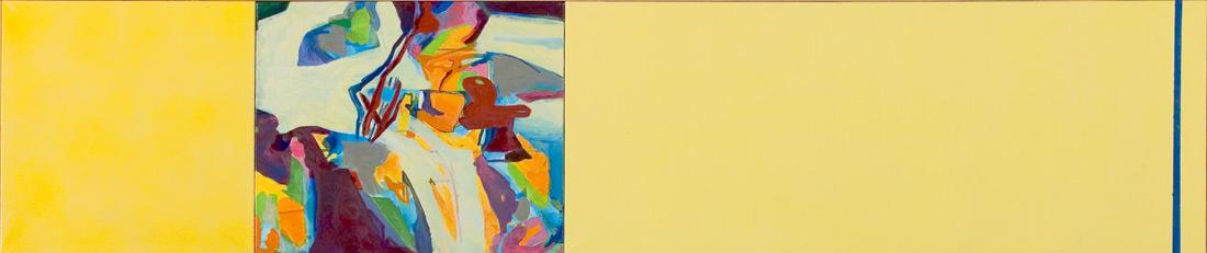 """""""Clean-Lounge"""", 50 x 245 cm, Öl und Eitempera auf Leinen, 2004"""