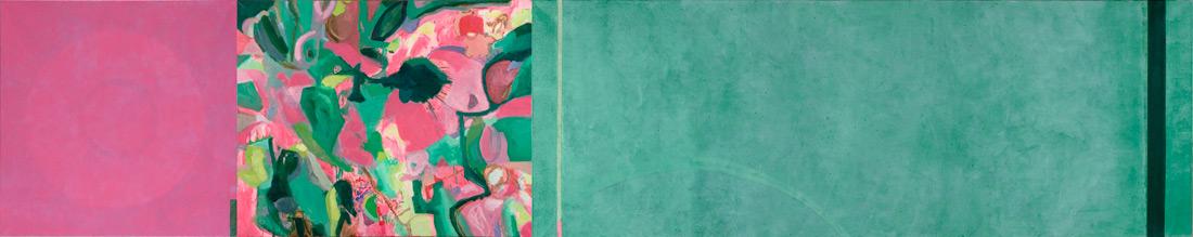 """""""Wildflower-Lounge"""", 100 x 540 cm, Öl auf Leinen, 2004"""