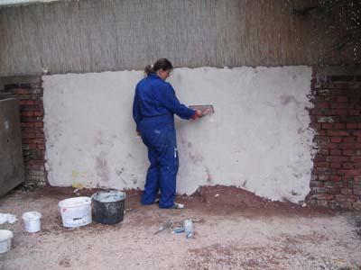 Sumpfkalkfeinputz, weiß, 2007