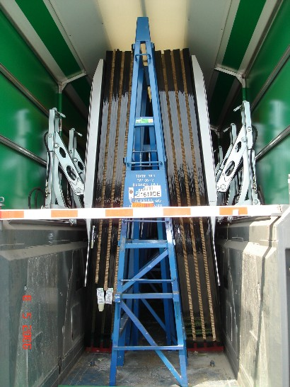 Glass on A-type Stillages in the truck