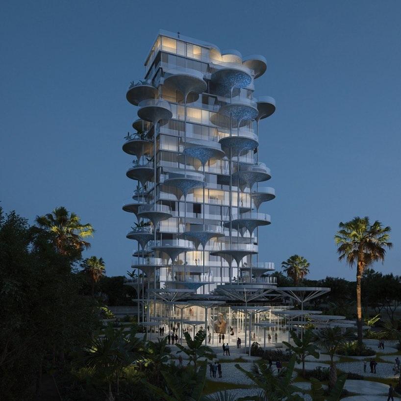 """CLELIA TOWER (o Limsson Tower) - Un palazzo floreale dove sbocciano """"piscine"""" a Cipro"""