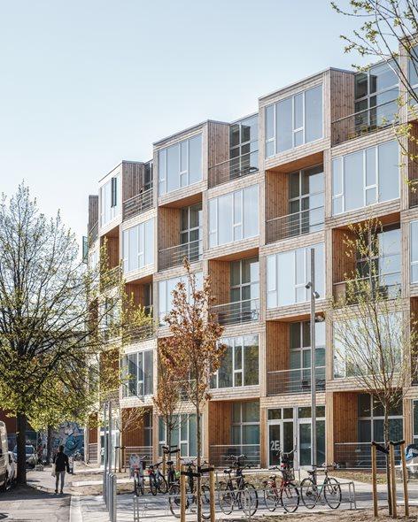 Palazzo a scacchiera a Copenaghen (alloggi sociali)