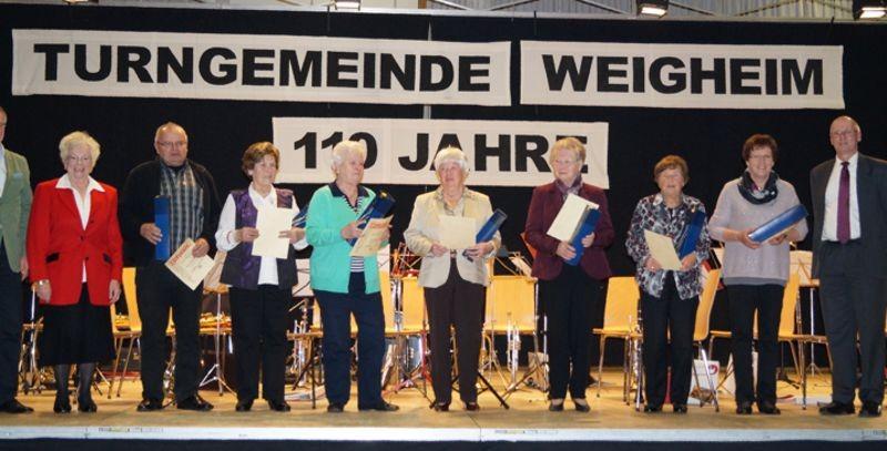 Ehrungen 40 Jahre Mitgliedschaft