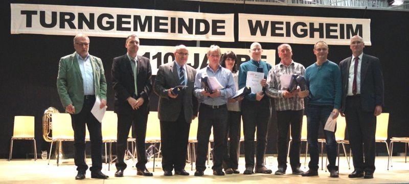 Ehrungen langjährige Aktive Mitglieder Tischtennis