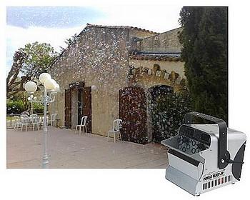 Machine à bulles pour vos soirée de mariage