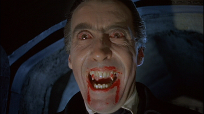 "Christopher Lee in ""Dracula"" di Terence Fisher"