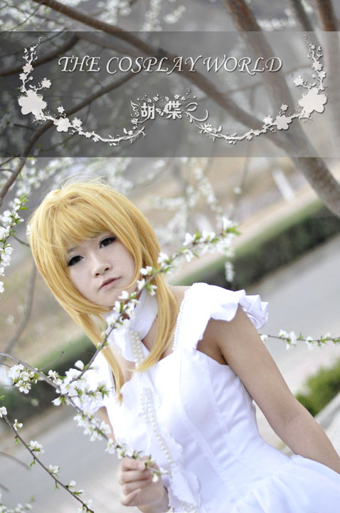 クランプ翼年代記風 最終回 ドレスClamp Chobits Chii White Lolita Dress Cosplay Costume