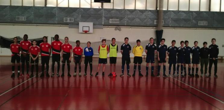 Finalistes Futsal Départemental Minimes : Antoine Risso et Les Bréguières.