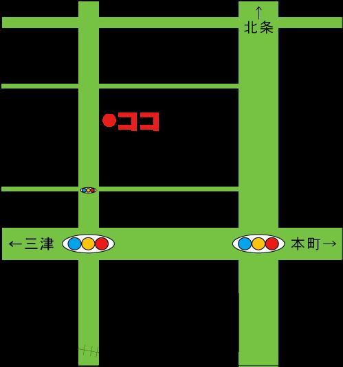 松山市あい整体院久枝の地図。松山市西長戸町383-6メゾンフォンテーヌ101