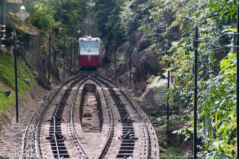 Railway up Penang Hill