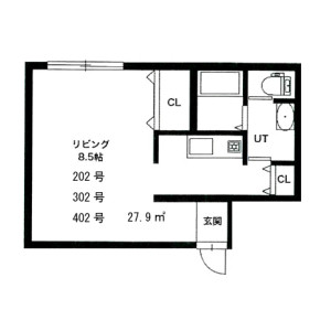 エストラーダN18・ 札幌市東区北18条東1-6-26・デザイナーズマンション・賃貸ギャラリー