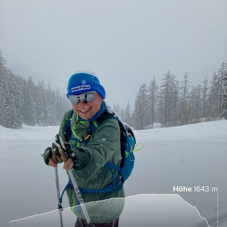 Kleine Skitour im Nachbarort