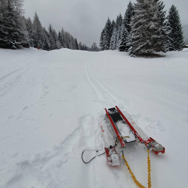 Tour mit Schneeschuh und Schlitten