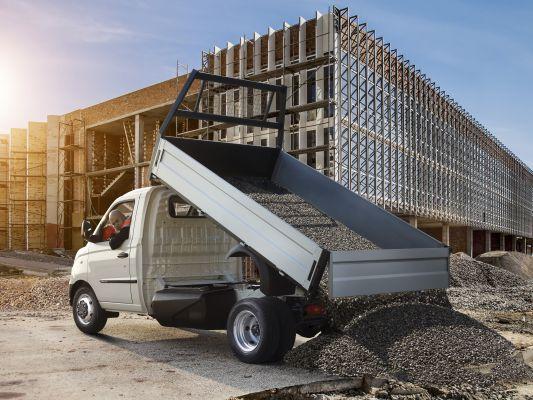 Piaggio Porter NP6 Kipper für Bauunternehmen Garage Stocker Muttenz
