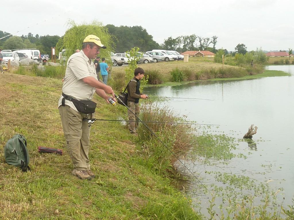 Pêcheurs à l'oeuvre sur le nouveau parcours