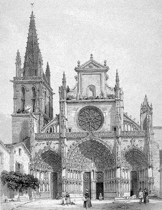 Cathédrale de Bazas par Louis Drouyn, 1844