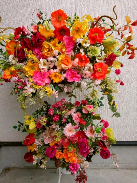 開店祝造花スタンド花