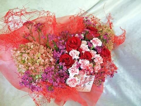 誕生祝花束